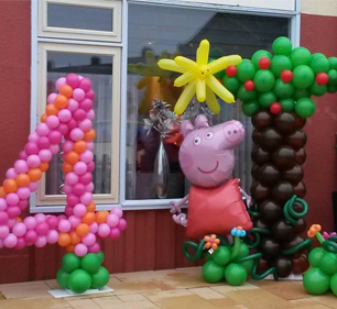 peppa big ballonenfiguur kids